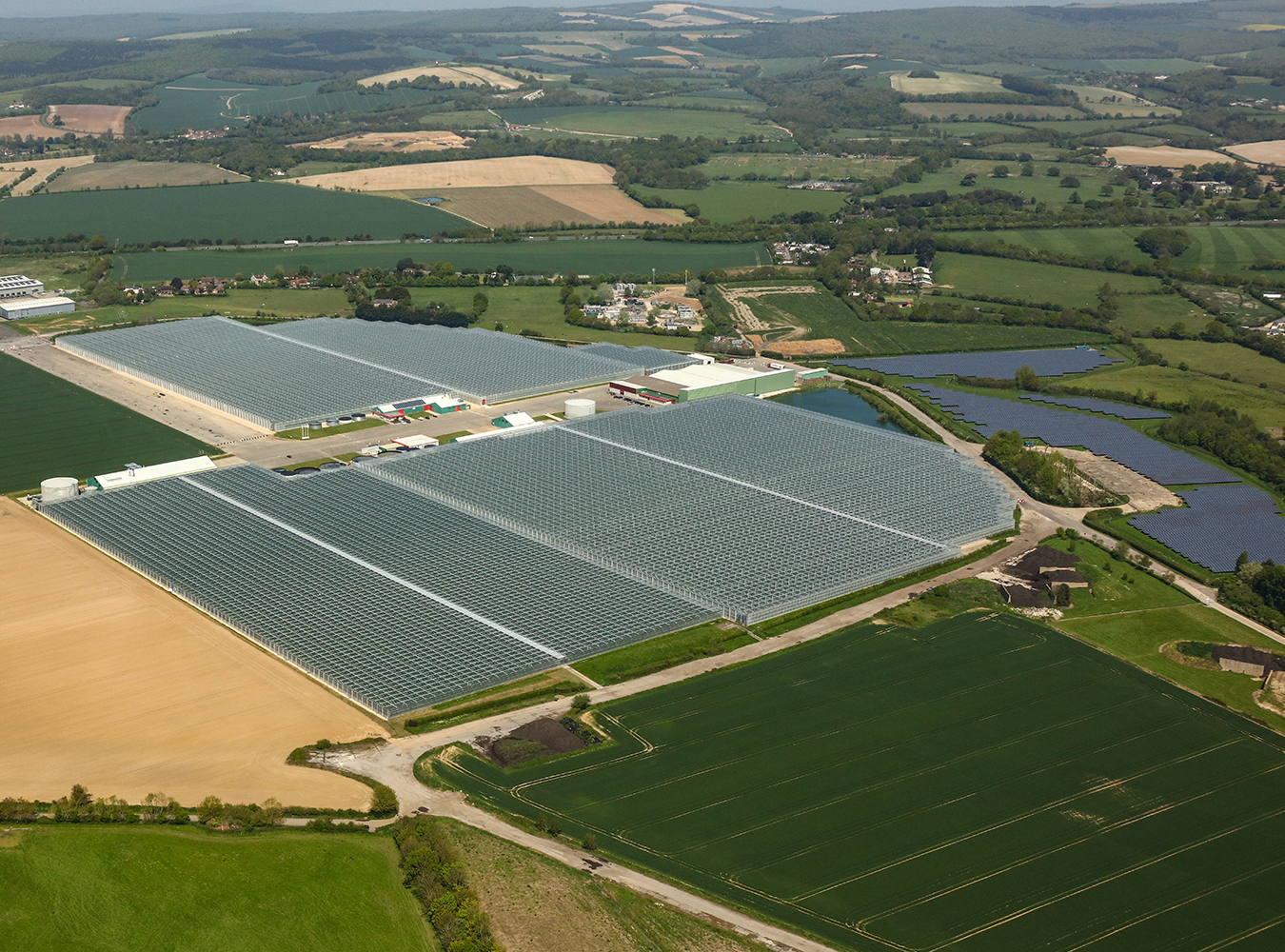 A aerial shot of Tangmere Airfield Nursery