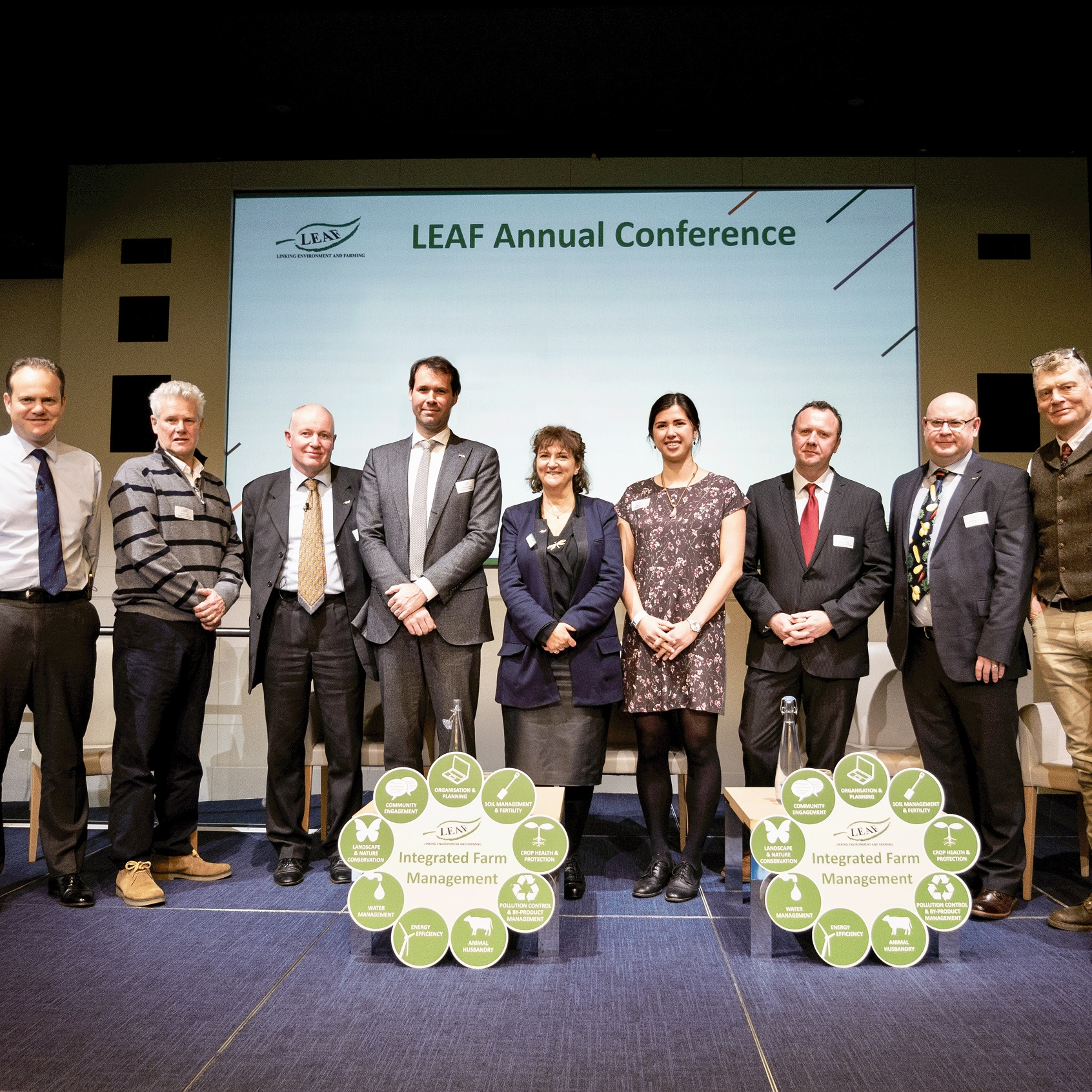 LEAF Conference 2019 group of speakers